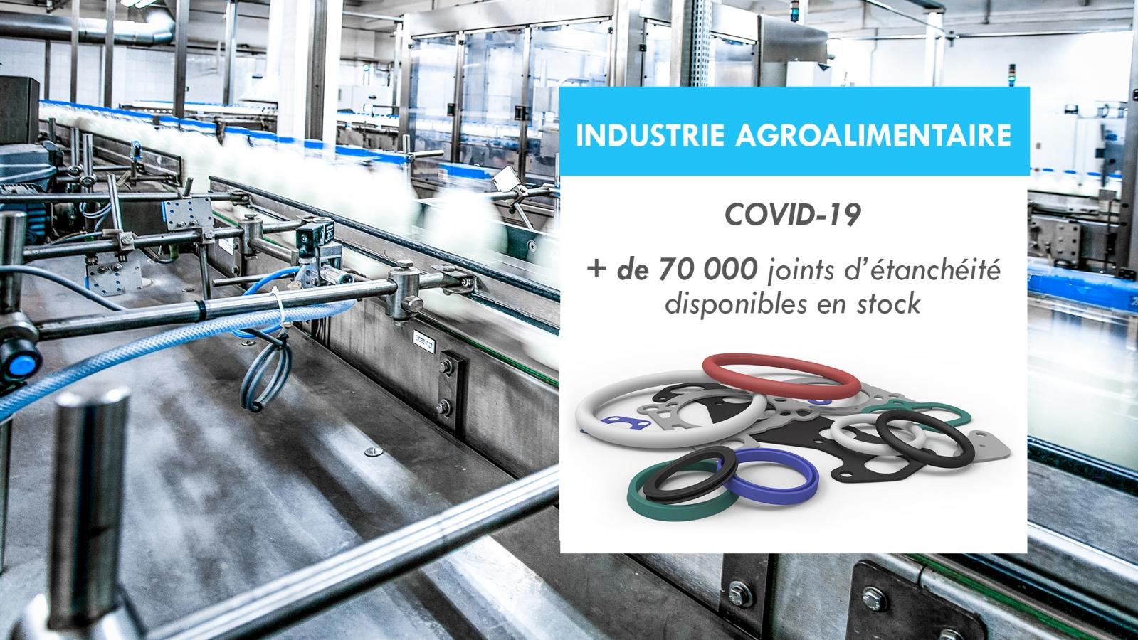 Industrie Agroalimentaire : + de 70 000 articles disponibles pour votre maintenance durant la crise COVID-19